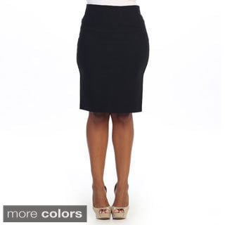 Hadari Women's Plus Sleek Pencil Skirt