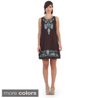 Hadari Women's Paisley Shift Dress