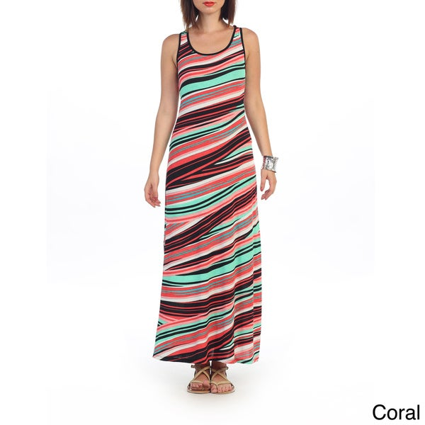 Hadari Women's Stripe Maxi Dress