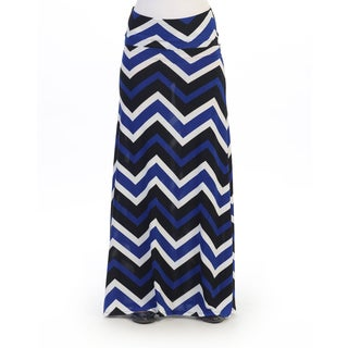 Hadari Women's Multi Chevron Maxi Skirt