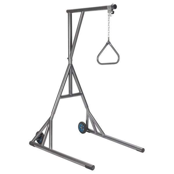 Heavy-duty Silver Vein Trapeze with Base and Wheels