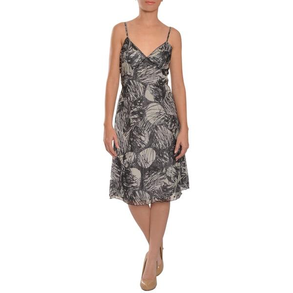 Vera Wang Women's Silk Print Cocktail Eve Dress