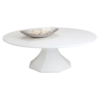 Sunpan Sanara Large Glossy White Coffee Table