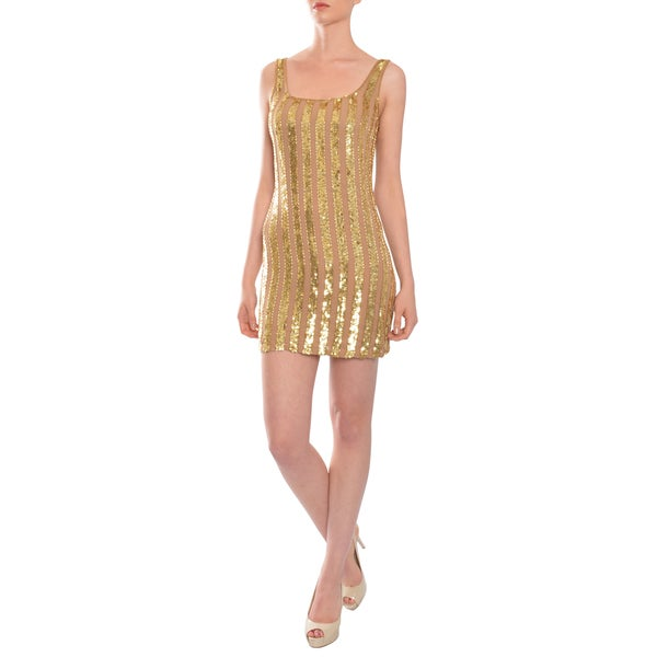 Haute Hippie Women's Silk Beaded Tank Dress