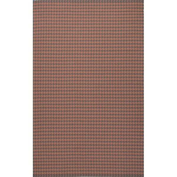 Geometric Pattern Orange/ Grey Area
