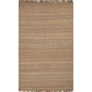 Handmade Abstract Pattern Beige/ Natural Hemp Area Rug (5' x 8')