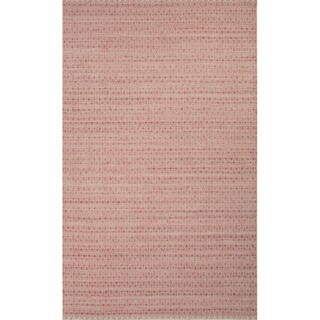 Flat Weave Red/ Ivory Wool/ Art Silk Area Rug (8' x 10')