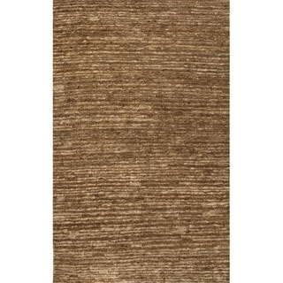Handmade Abstract Pattern Brown/ Natural Hemp Area Rug (8' x 10')