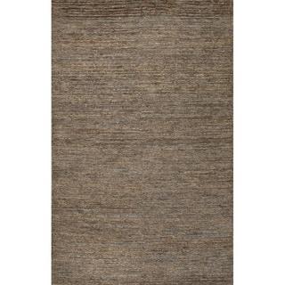 Handmade Abstract Pattern Brown/ Grey Hemp Area Rug (8' x 10')