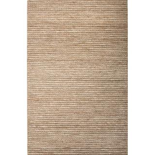Handmade Stripe Pattern Beige/ Ivory Hemp Area Rug (9' x 12')