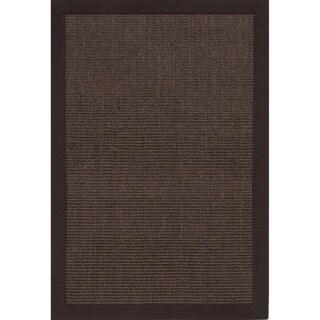 Handmade Abstract Pattern Brown/ Grey Sisal Area Rug (5'x8')