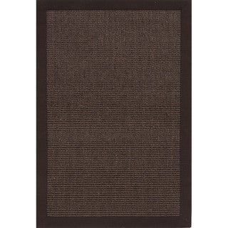 Handmade Abstract Pattern Brown/ Grey Sisal Area Rug (2' x 3')