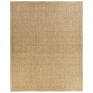 Handmade Abstract Pattern Black/ Grey Sisal Area Rug (8'x10')