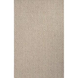 Handmade Geometric Pattern Grey Sisal Area Rug (8' x 10')