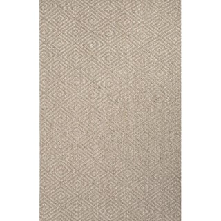 Handmade Geometric Pattern Grey Sisal Area Rug (5'x8')