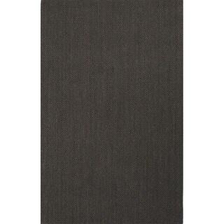 Handmade Abstract Pattern Black/ Grey Sisal Area Rug (8' x 10')