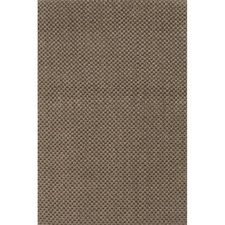 Handmade Abstract Pattern Brown/ Grey Sisal Area Rug (8'x10')