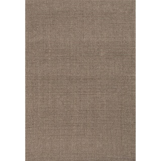 Handmade Abstract Pattern Grey/ Natural Sisal Area Rug (9'x12')
