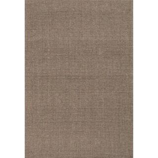 Handmade Abstract Pattern Grey/ Natural Sisal Area Rug (8' x 10')