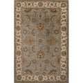 Hand Tufted Oriental Pattern Blue/ Ivory Wool Area Rug (2'6 x 4')