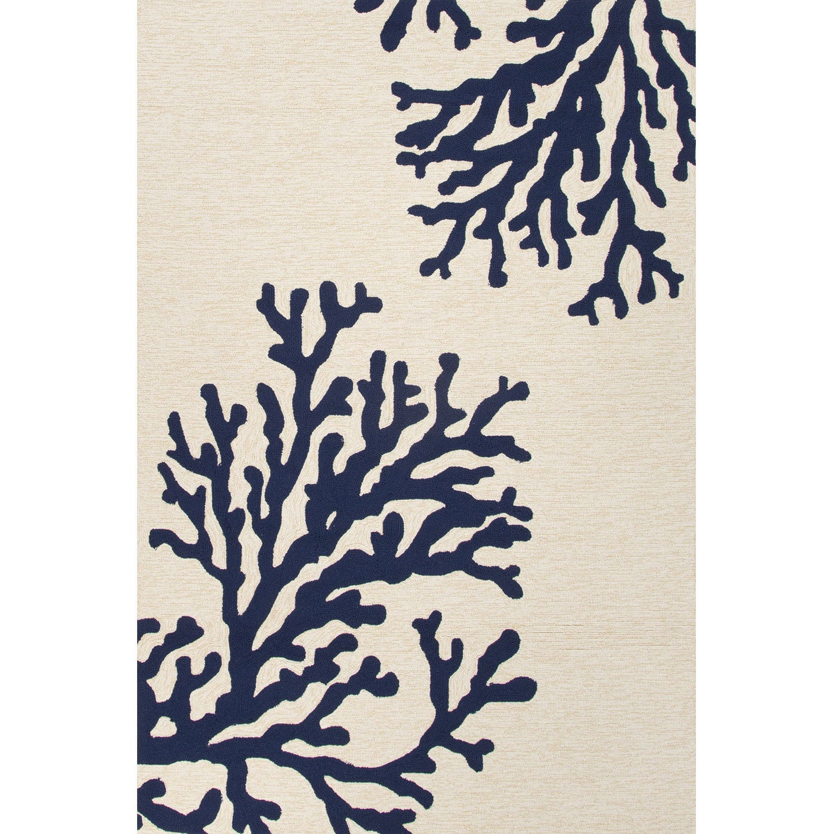 Overstock.com Handmade Abstract Pattern White/ Blue Polypropylene Area Rug (5' x 7'6) at Sears.com
