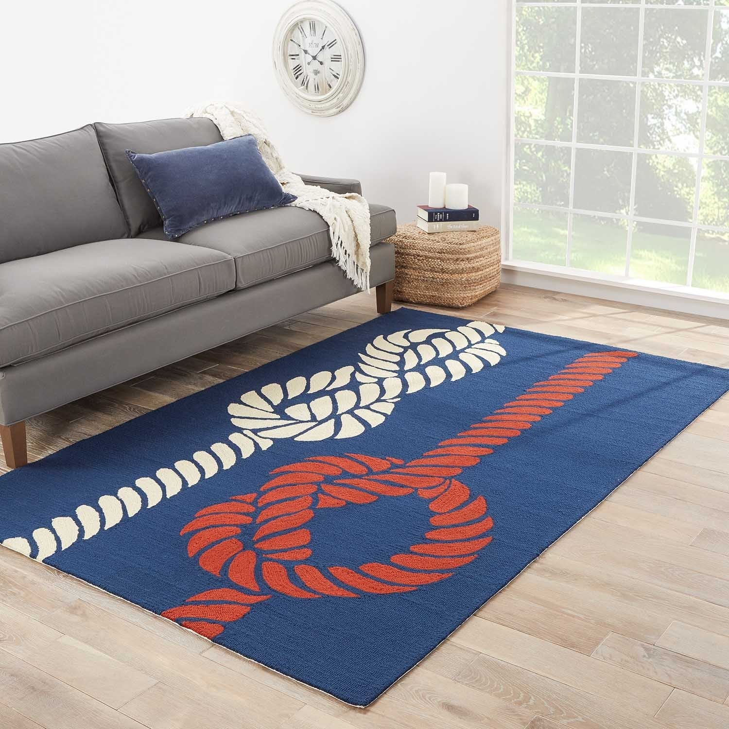JRCPL Handmade Abstract Pattern Blue/ Red Polypropylene Area Rug (5'x7'6) at Sears.com