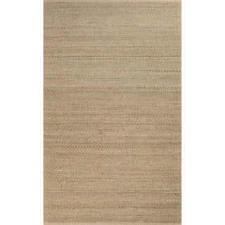 Handmade Abstract Pattern Brown/ Green Jute/ Rayon Area Rug (8' x 10')