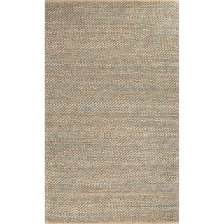 Handmade Abstract Pattern Brown/ Green Jute/ Rayon Area Rug (8'x10')
