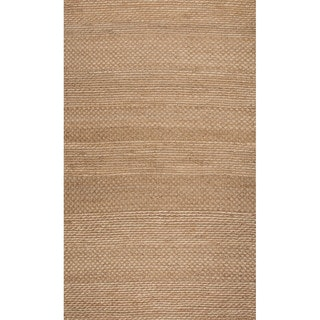 Handmade Abstract Pattern Natural/ Ivory Jute Area Rug (8' x 10')