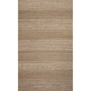 Handmade Abstract Pattern Grey/ Natural Jute Area Rug (8' x 10')