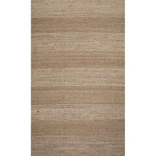 Handmade Abstract Pattern Grey/ Natural Jute Area Rug (8' x 10')