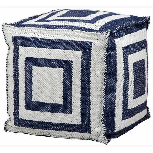 Nourison Mina Victory Navy Blue 16-inch Indoor/ Outdoor Cube
