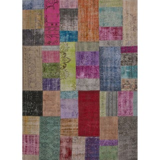 Hand Knotted Oriental Pattern Multi Wool Area Rug (5' x 8')