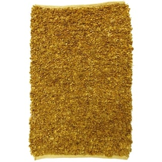 Celebration Jute and Leather Natural Hand Woven Rug (2' x 3')