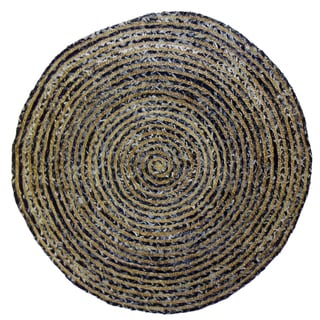 Celebration 96-inch Jute Denim Braid Hand Woven Rug