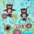 Lisa Keys 'Love Owls' Paper print poster