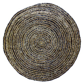 Celebration 48-inch Jute Denim Braid Hand Woven Rug