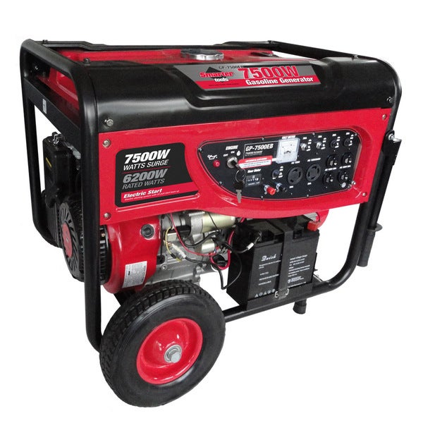 Smarter Tools7500-watt Portable Gas Generator with Electric Start and Battery