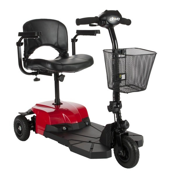 Red Bobcat X3 3-wheel Compact Transportable Scooter