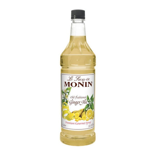 Monin Old Fashioned Ginger Ale Syrup (Case of 4)