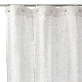 Pink Floral Cotton Shower Curtain