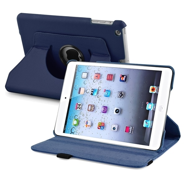 Insten 360 Swivel Rotating Stand Leather Case for Apple iPad mini/ mini with Retina Display