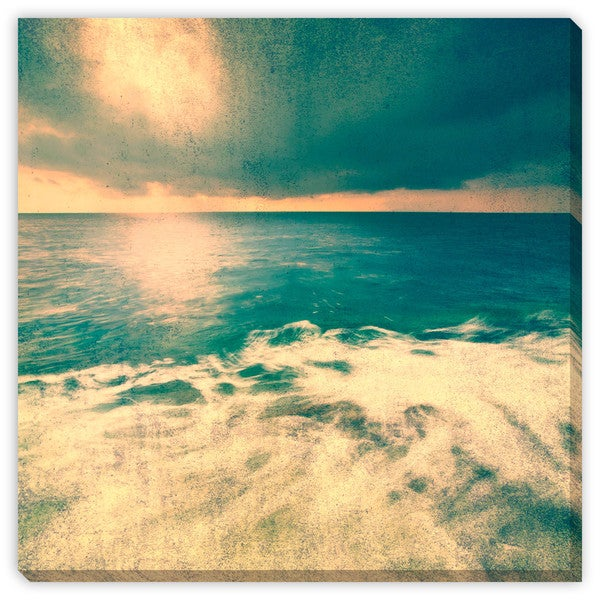 Robsonphoto's 'Grunge Retro Seascape' Canvas Gallery Wrap