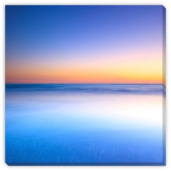 Stevanzz's 'White Beach Blue Ocean at Twilight' Canvas Gallery Wrap