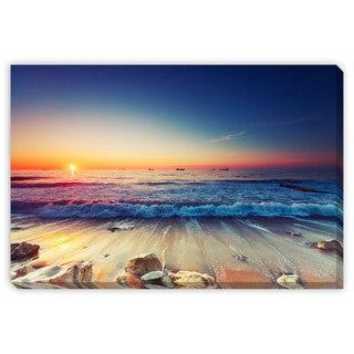 Valentin Valkov 'Sunrise Over Sea' Gallery Wrapped Canvas Art