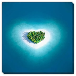 Maksim Samasiuk 'Heart Island' Gallery Wrapped Canvas Art