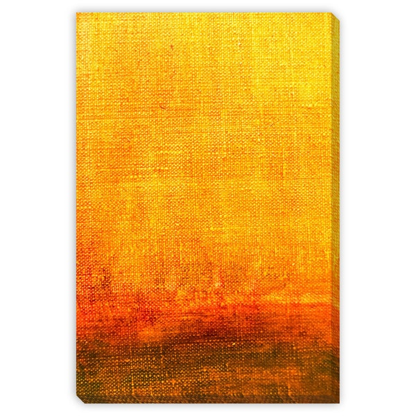 Mr Twister's 'Red and Yellow Abstract' Canvas Gallery Wrap