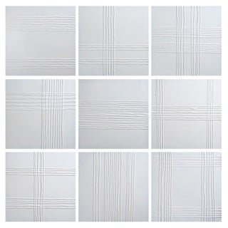 Sunpan 'White Collage' Canvas Wall Art
