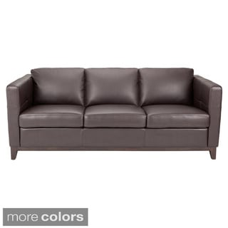 Sunpan Waverly Leather Sofa