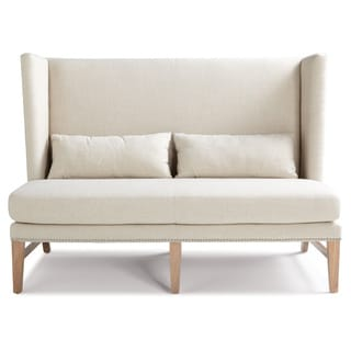 Sunpan Malibu Contemporary Linen Loveseat